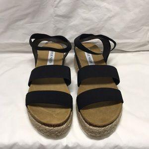 Steve Madden kimmie platform sandals Black